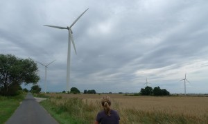 Wind turbines in the windy, rural northern state of Mecklenburg-Vorpommern