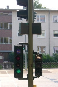 Bike traffic lights for both directions