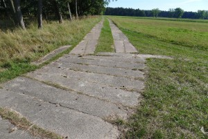 "Plattenweg (concrete plank road) from ""DDR Zeit"""
