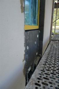 foam block infill under window