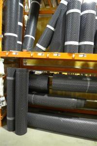 dimpled plastic drainage mat