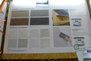 a sampling of the many stucco colors and textures available
