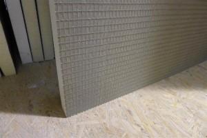 detail of tile backer board