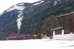 district heating plant tucked into the landscape