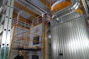 3 MW boiler with heat exchanger