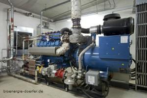 Block heating and power plant for cogeneration in bioenergy village Wollbrandshausen