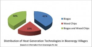 distribution of heat generating technology in bioenergy villages