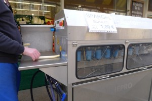 asparagus peeling machine