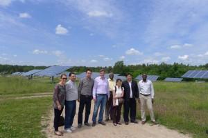 tour group in solar park