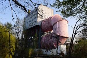 pink pipe in Tiergarten